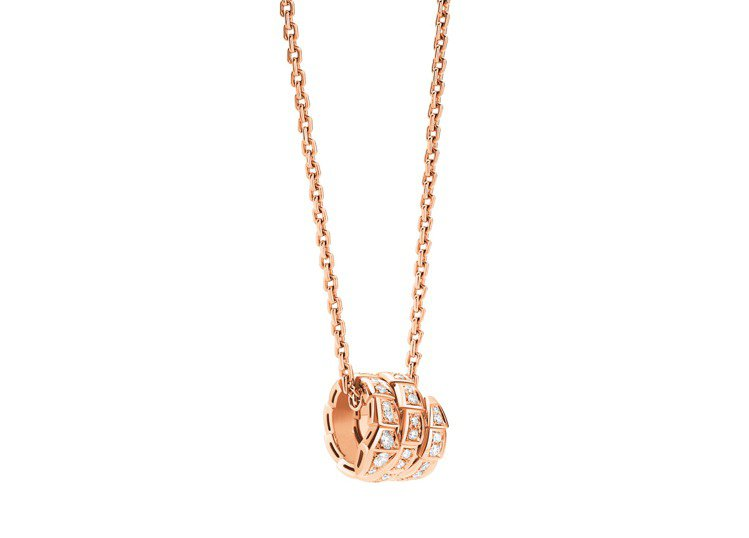 BVLGARI Serpenti Viper玫瑰金鑽石墜鍊,約20萬0,400元