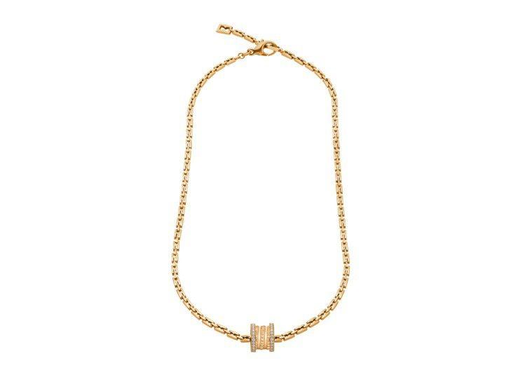 BVLGARI B.zero1系列黃K金鑲鑽頸鍊,約31萬3,600元