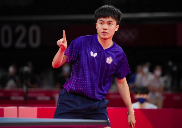 19歲的桌球小將林昀儒晉級東京奧運桌球男單四強戰。照片/美聯社