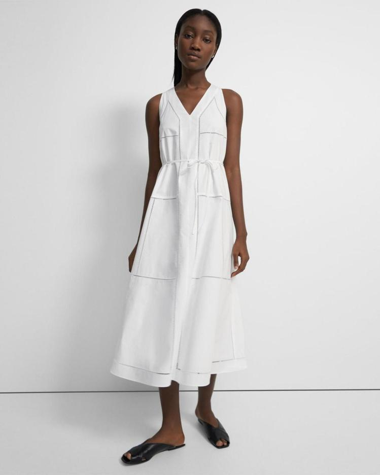 Theory女裝無袖網眼棉質連身裙,限定特價11,700元。圖/Theory提供