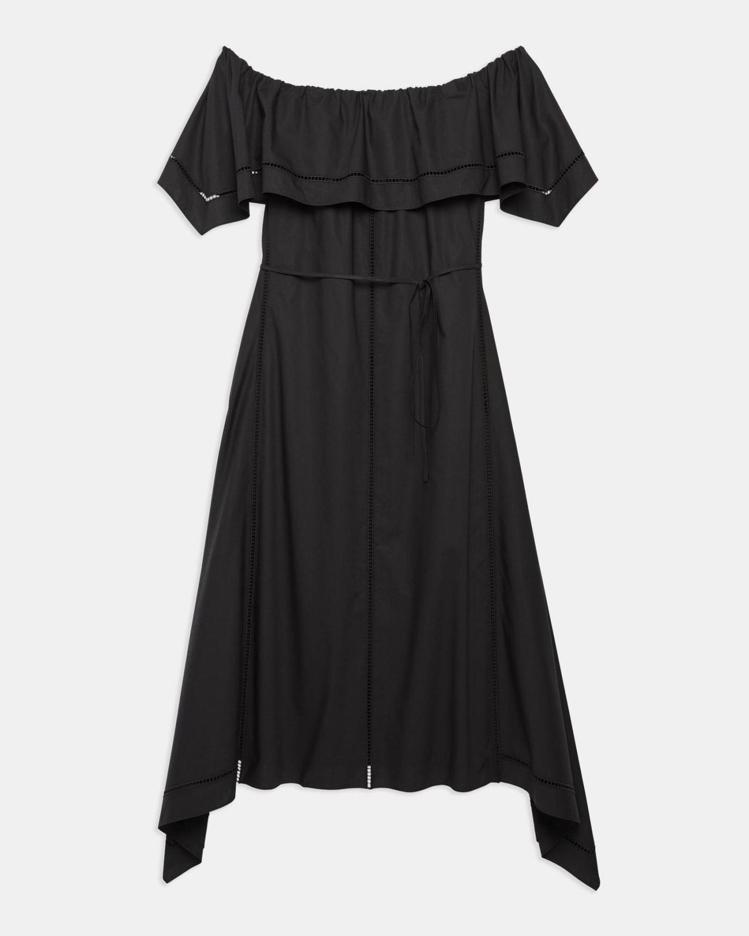 Theory女裝一字網眼棉質連身裙,限定特價11,700元。圖/Theory提供