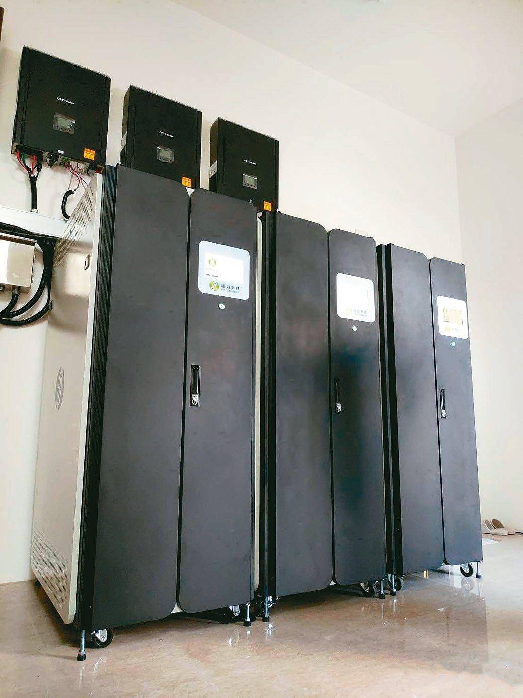 格斯科技團隊在台中東區豪宅使用鈦酸鋰電池儲能系統結合太陽能的實際應用。格斯...