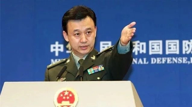 大陸國防部發言人吳謙。圖/大陸國防部網站