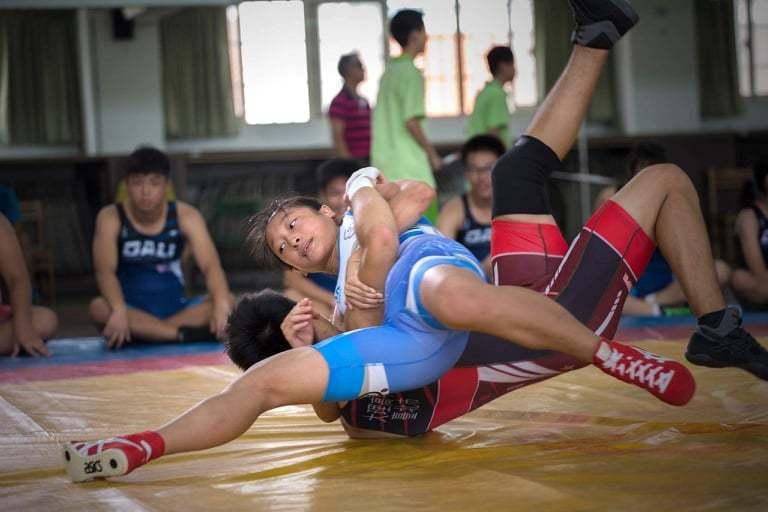 張禹萱從小立志成為角力運動員,如今仍在這條路上努力前進。圖片由張禹萱授權「有肌勵」刊登