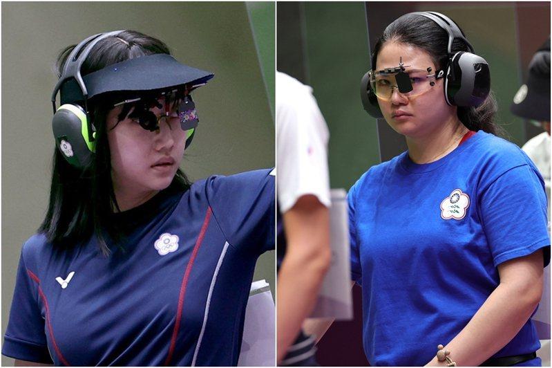 田家榛(右)、吳佳穎(左)雙雙射下總分584分,分別排名第5、第7晉級決賽。 路透