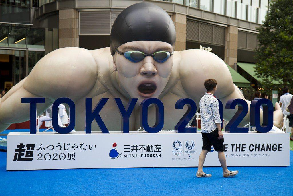 東京奧運的廣告宣傳。圖/Nathan Rupert(CC BY-NC-ND 2....