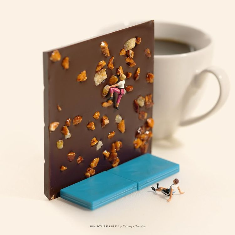 堅果巧克力片是全能運動攀登比賽的攀岩場。圖/取自IG