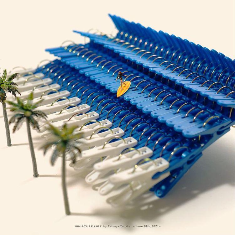 衝浪好手在曬衣夾海浪中展現絕技。圖/取自IG