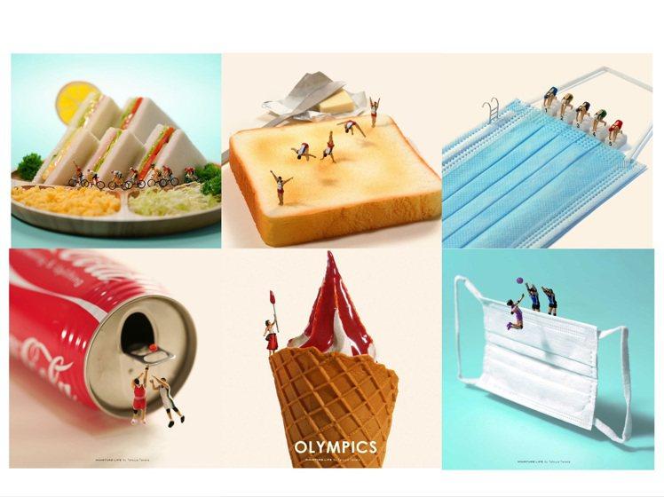 田中達也的微型攝影也跟上東京奧運的腳步。圖/取自IG
