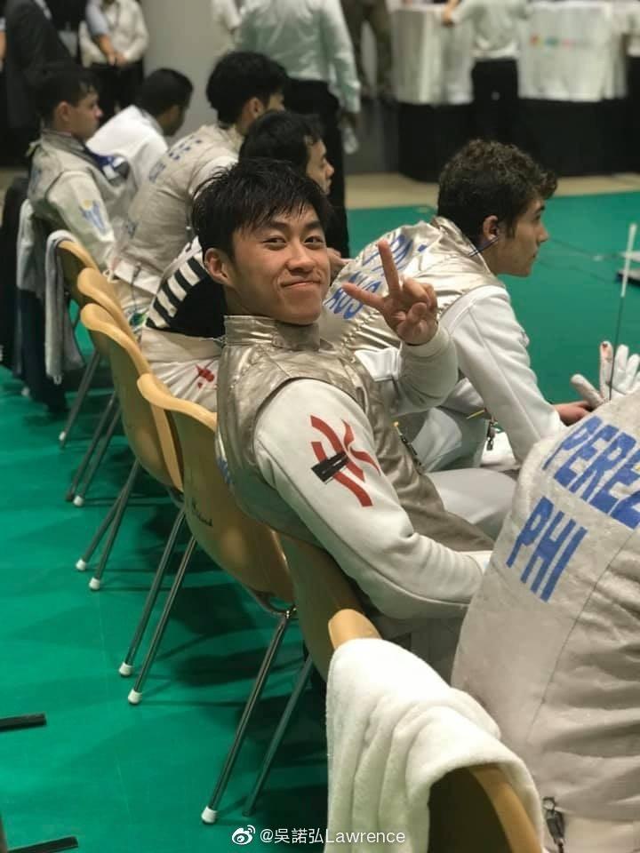吳諾弘為香港男子劍擊(花劍)運動員。圖/擷自吳諾弘微博