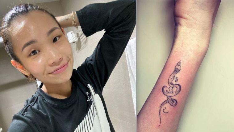 ▲小戴說從小聽爸爸說要「相信自己」,因此決定將爸爸的生肖和這句話,刺青在自己的左...