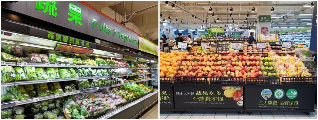 貨源充足及可溯源的嚴選蔬果區,也可買到不少有機認證的商品。 家樂福/提供
