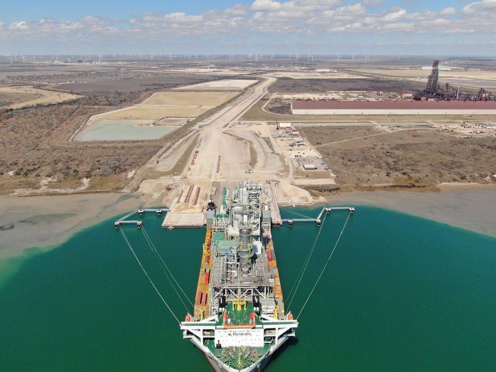 模組順利運抵美國德州此案專用港口。 中鼎集團/提供