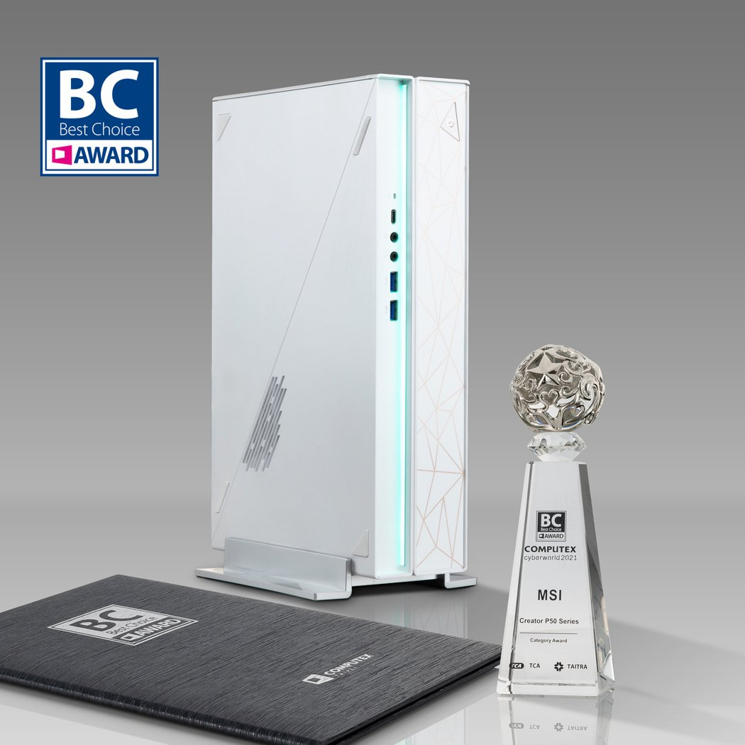 創作者桌機 Creator P50則榮獲類別獎。 微星/提供