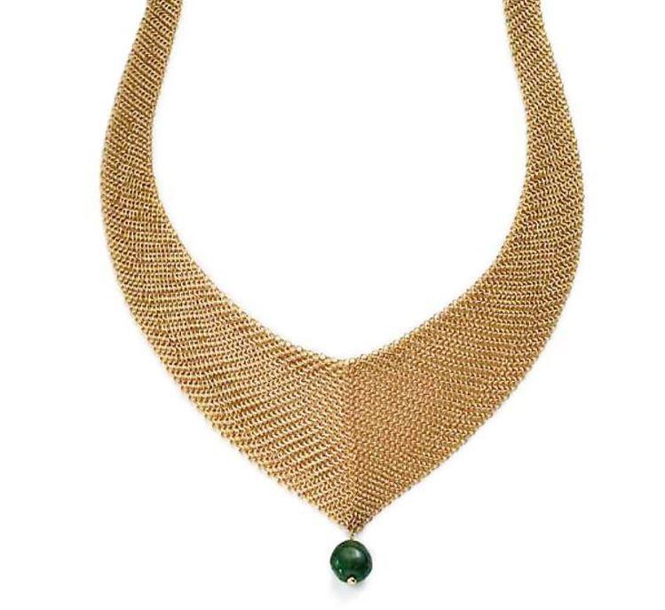 Tiffany Elsa Peretti Mesh 18K金屬網設計裝飾祖母綠寶...