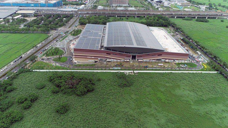 台南沙崙綠能科學城陸續開發完成及吸引企業投資進駐。圖/經發局提供
