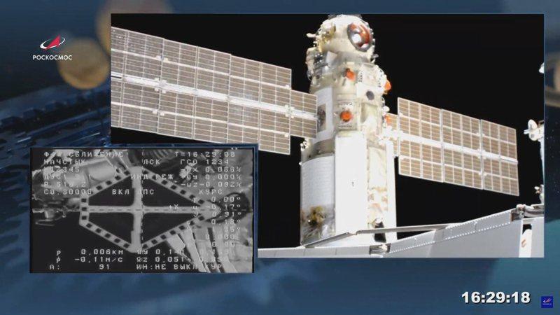 據美國太空總署控制員稱,國際太空站29日發生一種不尋常且具有潛在危險的情況,因為新對接的俄羅斯科學號多功能實驗艙無意中啟動推進器,導致與太空站「拔河」並短暫地將其推離位置。歐新社