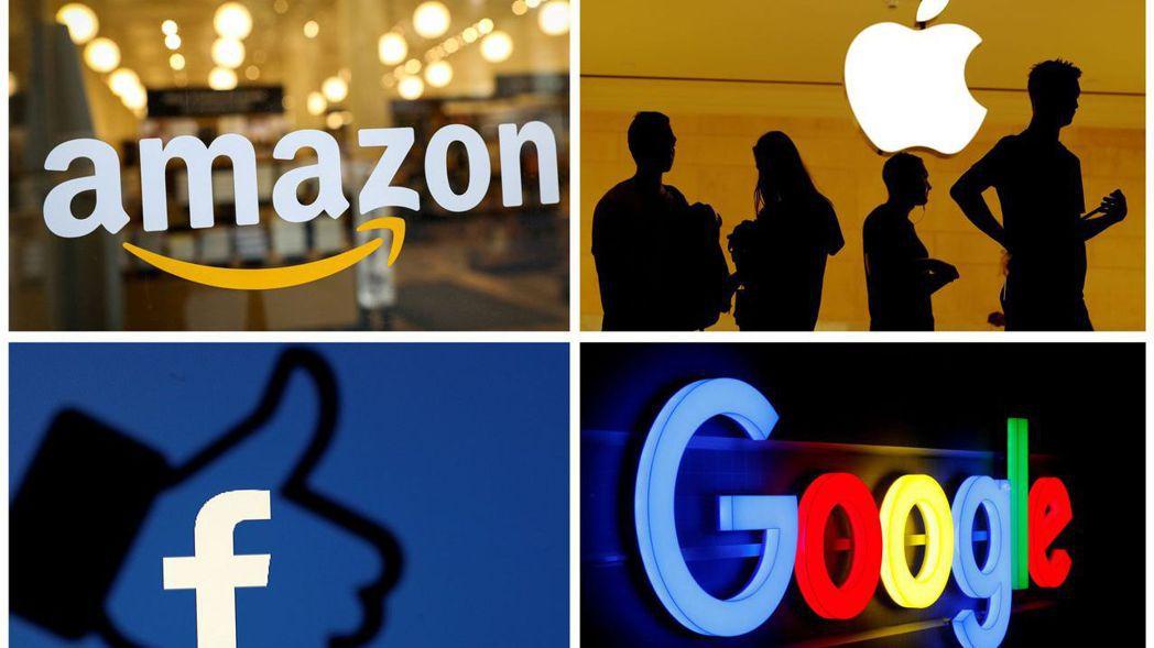 蘋果、亞馬遜、Google母公司Alphabet、臉書以及微軟,這五家科技巨人目...