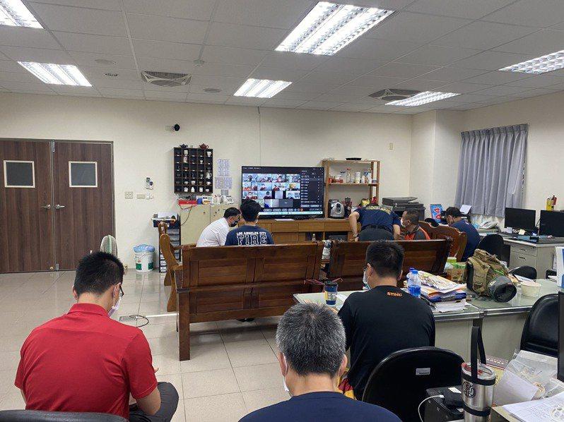 提升消防基層救災指揮能力,台南市消防五大隊舉辦指揮官複訓。圖/五大隊提供