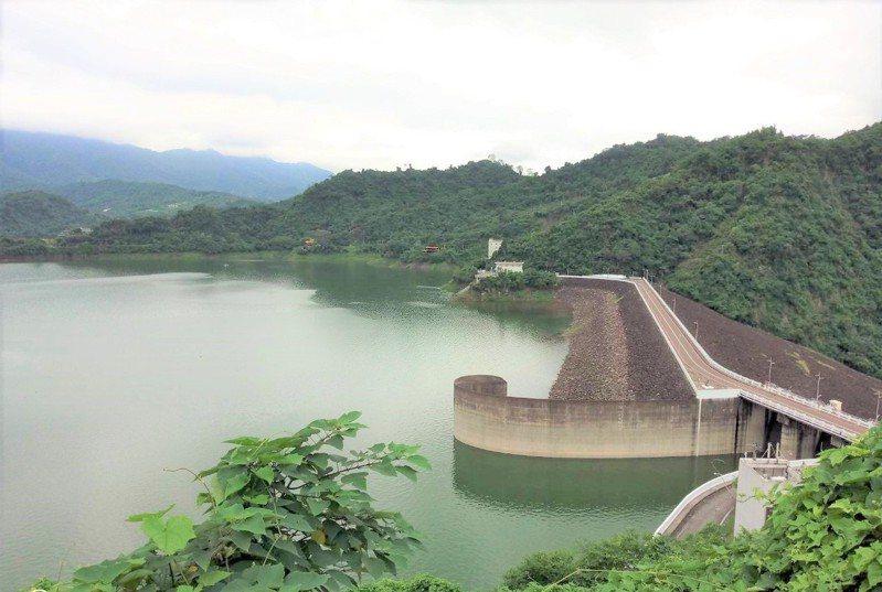曾文水庫下午水位220.57公尺,蓄水量3.43億立方公尺,蓄水率67%。圖/南水局提供