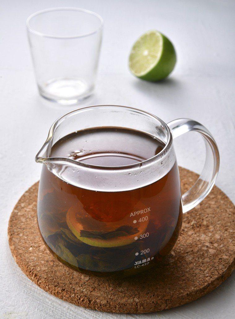 檸檬梅子綠茶。圖/幸福文化 提供