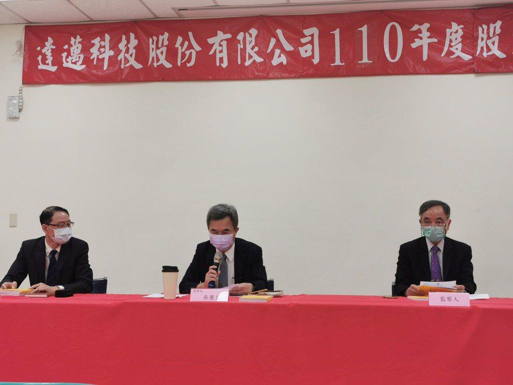 達邁今日股東會拍板配息1.5元並由吳聲昌續任董事長。圖:公司提供