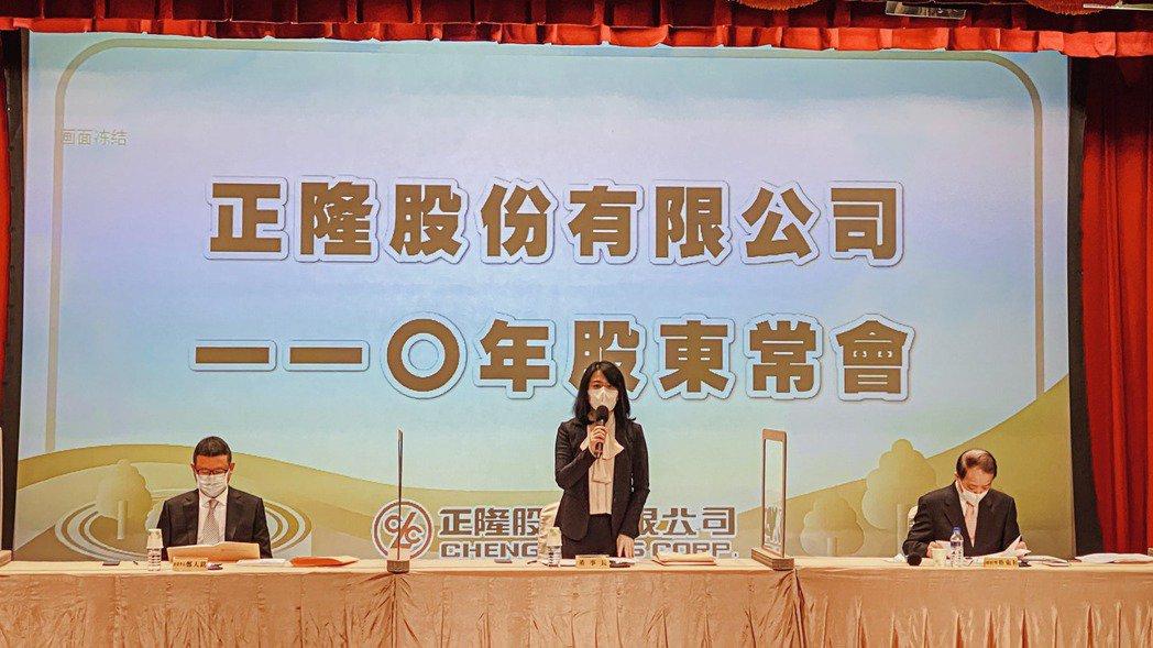 正隆昨天舉行股東常會,由董事長鄭舒云主持。 正隆/提供