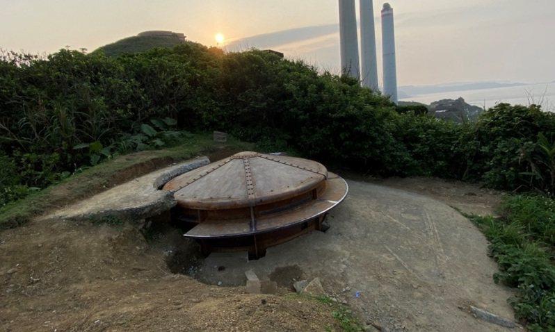 基隆百年古蹟白米甕砲台修復,觀測所鐵堡軍事情境復原。圖/文化局提供