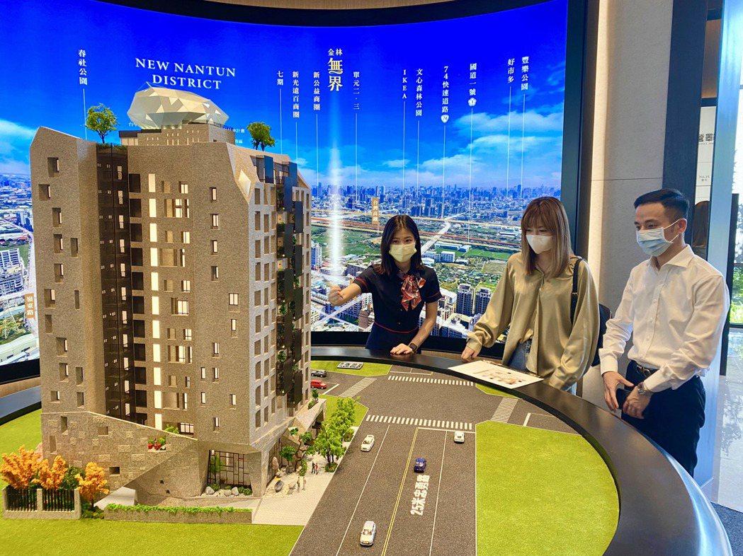 目前台中房地產市場以置產及年輕首購自住型客層為主力。記者宋健生/攝影