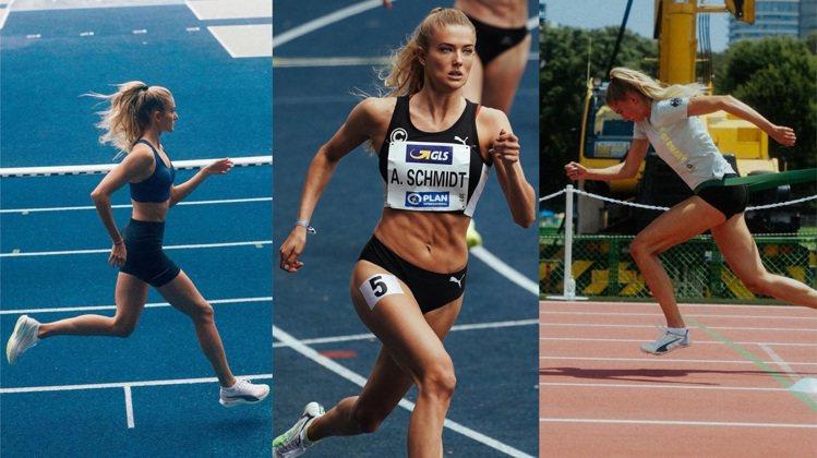 地表最美田徑運動員Alica Ѕchmidt跑姿無懈可擊。圖/取自IG