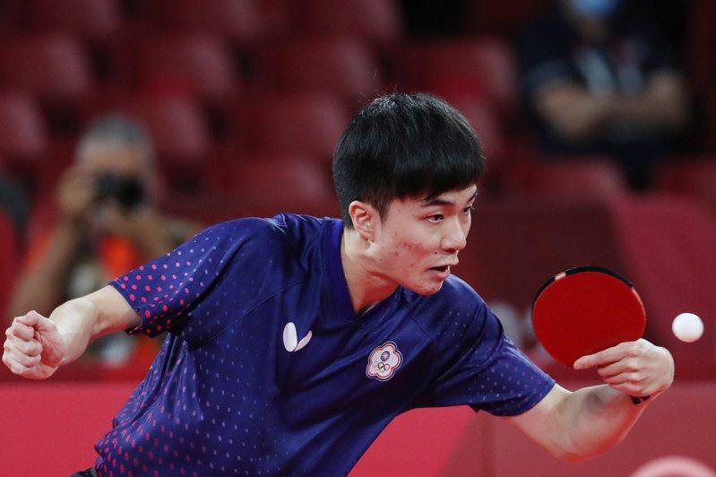東奧男單桌球銅牌戰,林昀儒未能如願奪牌,最後以3:4敗給了德國老將奧恰洛夫。 歐新社
