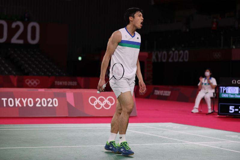 我國羽球「一哥」周天成(圖)昨天在東京奧運男單8強賽不敵大陸前「世界球王」諶龍。 特派記者余承翰/東京攝影