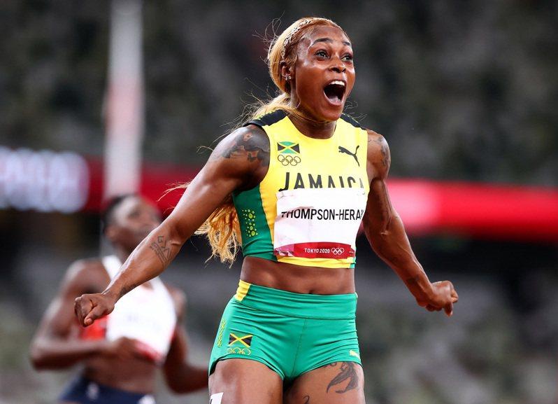 牙買加女將湯普森赫拉衛冕成功。 路透