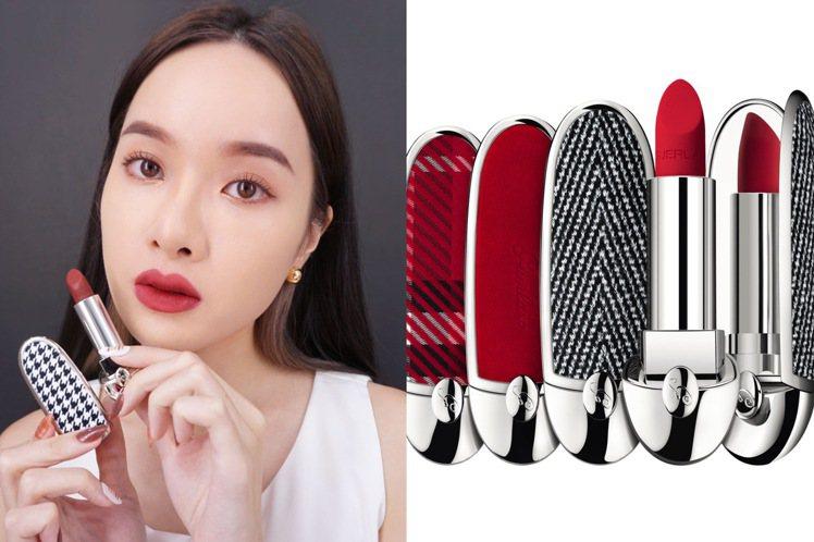 嬌蘭紅寶之吻高訂紅絲絨唇膏,推出全新15色號、6款絲絨織物的彩殼。圖/嬌蘭提供