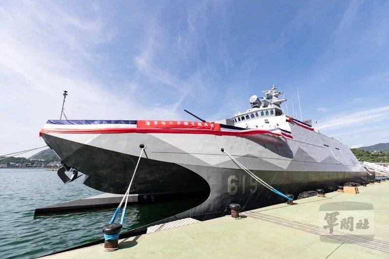 海軍高效能艦艇後續艦首艦「塔江軍艦」。圖/軍聞社
