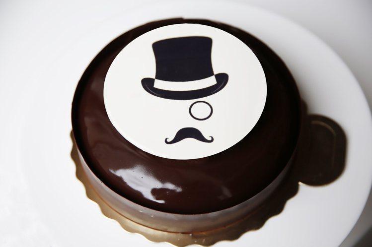 台北美福大飯店的父親節蛋糕「紳士」。圖/台北美福提供