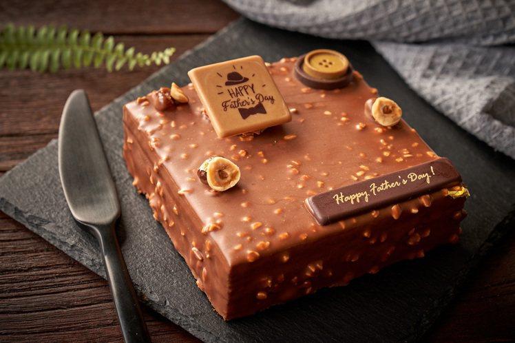 台北福華大飯店點心坊8月限定「巧克醺爵」白蘭地生巧克力蛋糕,售價588元。圖/台...