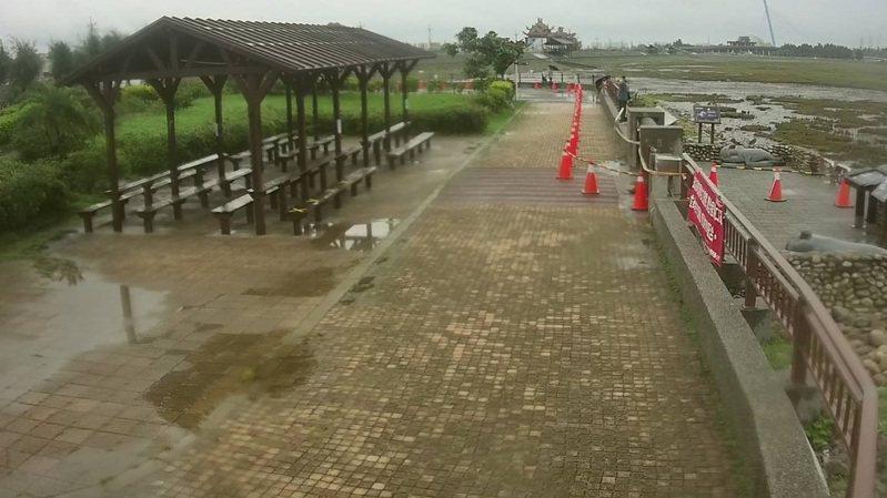 台中知名景點高美濕地今日現況。圖/台中市海資所提供