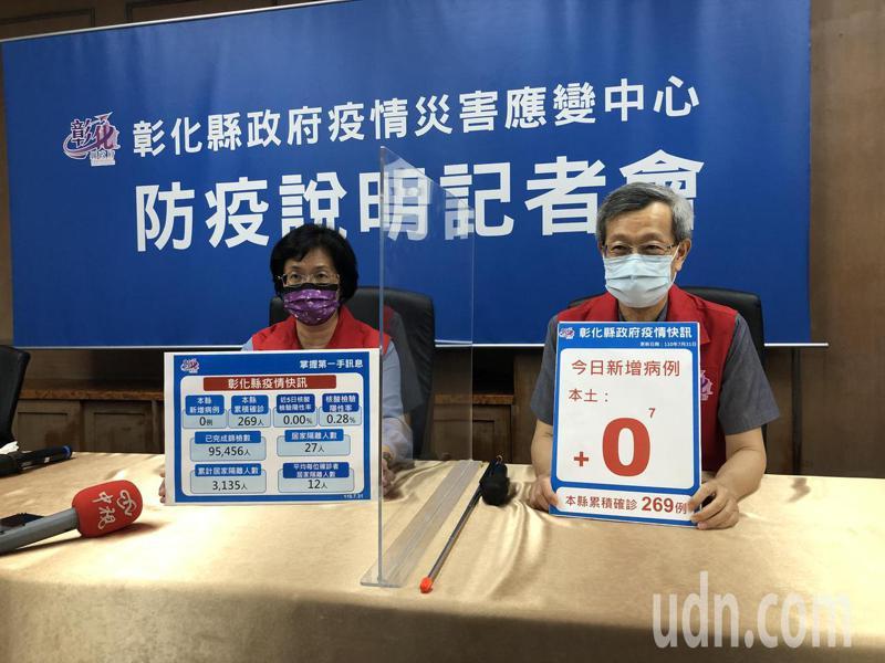 彰化縣今天宣布連續第七天沒有新增確診個案。記者林敬家/攝影