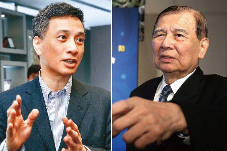 東元經營權之爭,黃茂雄(右)與長子黃育仁的對決,已進入新戰場,大打菱光收購戰。圖/聯合報系資料照片