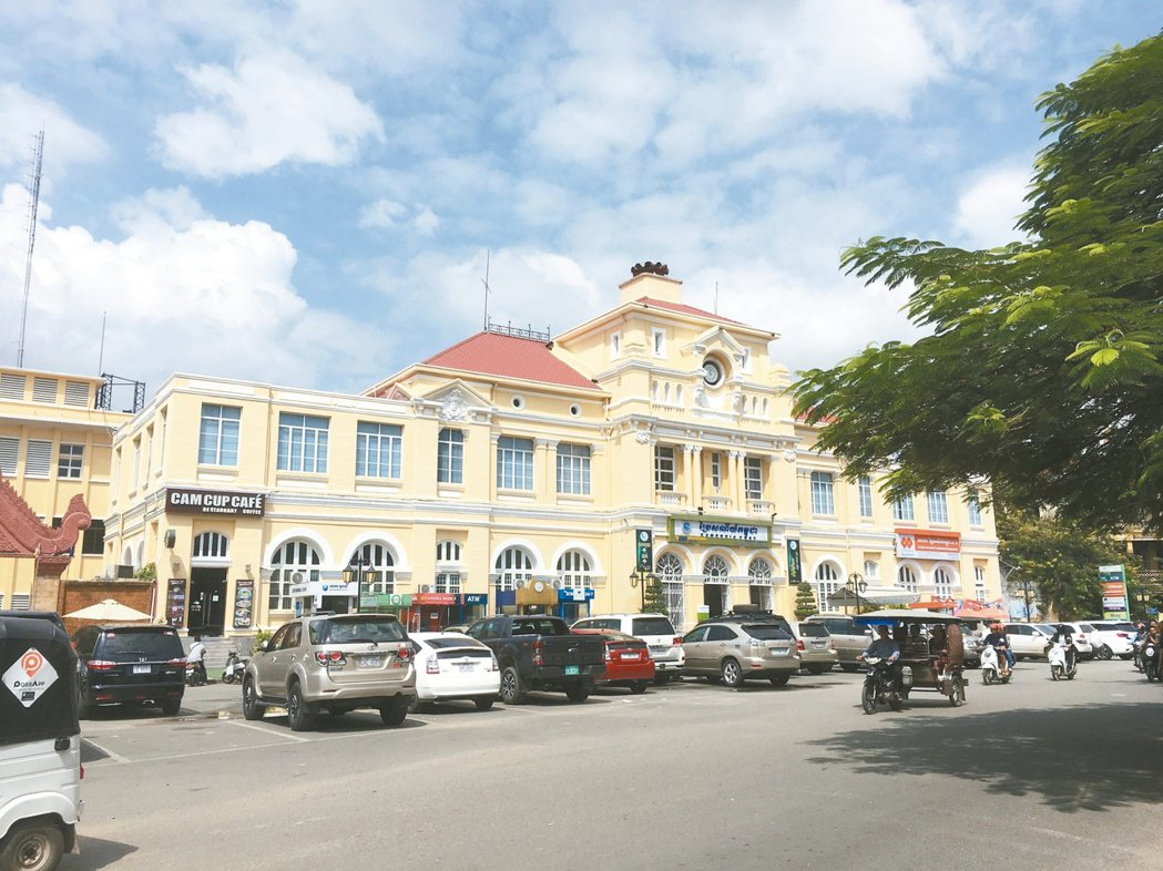 柬埔寨金邊分行躍升大型行庫海外金雞母,圖為金邊市街景。 兆豐銀行/提供