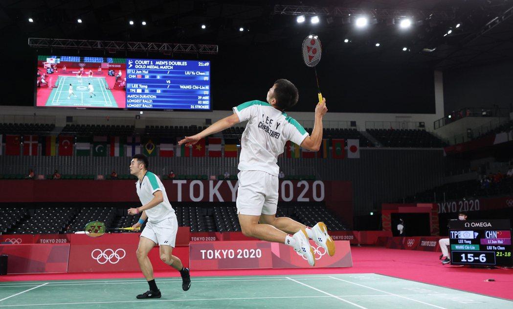 「麟洋配」第一次奧運行就摘下男雙金牌。特派記者余承翰/東京攝影