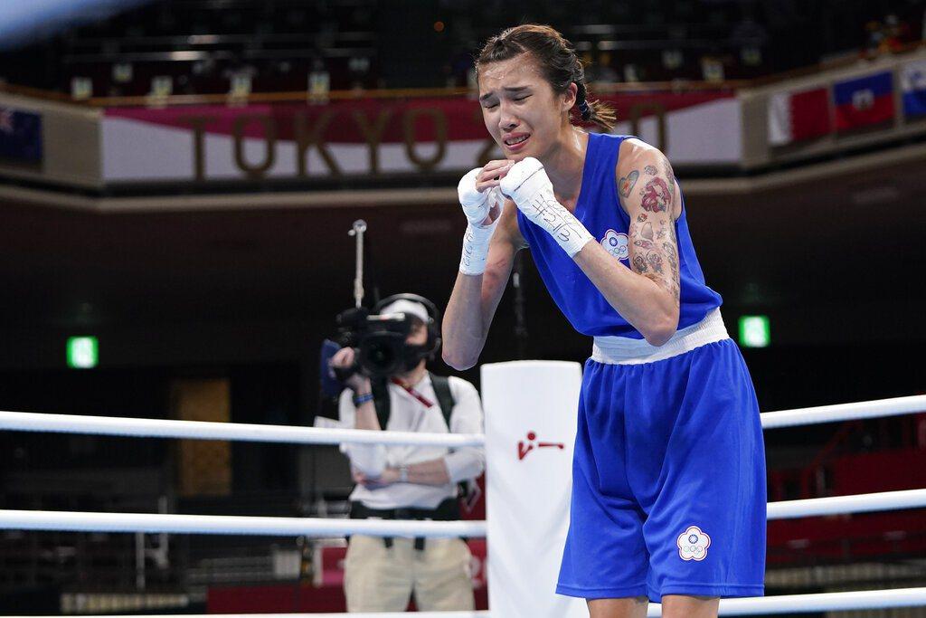 由於拳擊不舉行銅牌戰,晉級四強的黃筱雯已經確定至少銅牌入袋。 美聯社