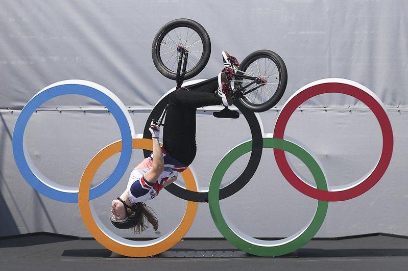 英國女將沃興頓奪BMX花式賽冠軍。 歐新社