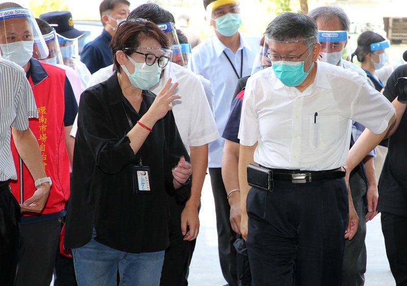 台北市長柯文哲已表態交棒副市長黃珊珊,更因為5月起的疫情,給了黃珊珊絕佳舞台。 本報資料照