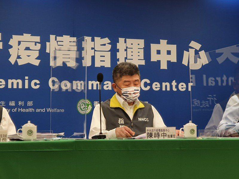 指揮官陳時中將主持記者會。本報資料照片