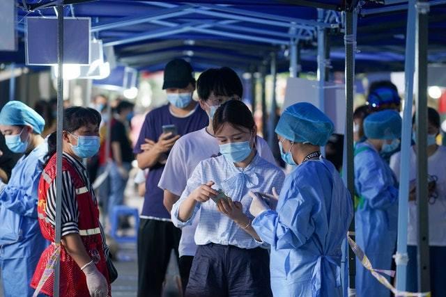 7月29日南京玄武區進行核酸檢測。新華社
