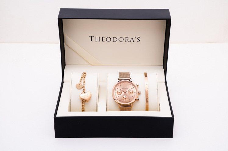 Theodora's七夕禮盒女款 Apollo腕表3,928元。圖/T...