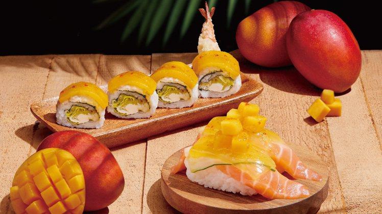 MAGiC TOUCH点爭鮮新推出「鮮芒酸辣鮭」、「鮮芒酸辣蝦卷」2款新品。圖/...