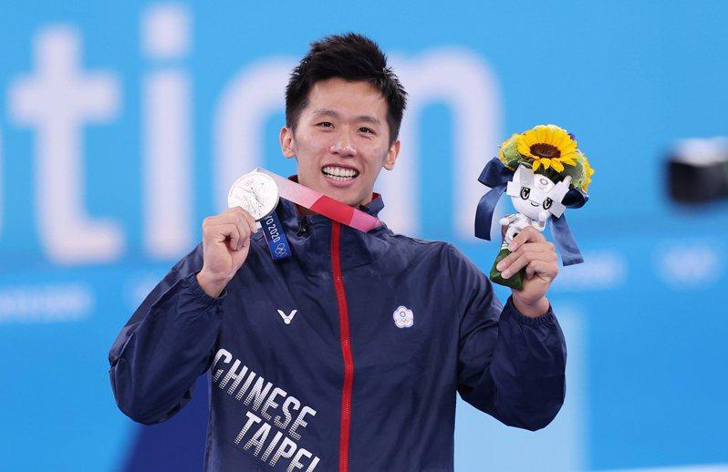 「鞍馬王子」李智凱在東京奧運競技體操鞍馬項目摘下銀牌。特派記者余承翰/東京攝影